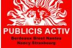 PUBLICIS ACTIV  (Bordeaux-Brest-Nantes-Nancy-Strasbourg)