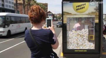 Bus shelters become claw machines