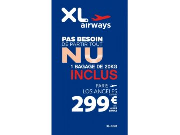 XL Airways - tout nu