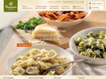 Panera Bread Website Redesign