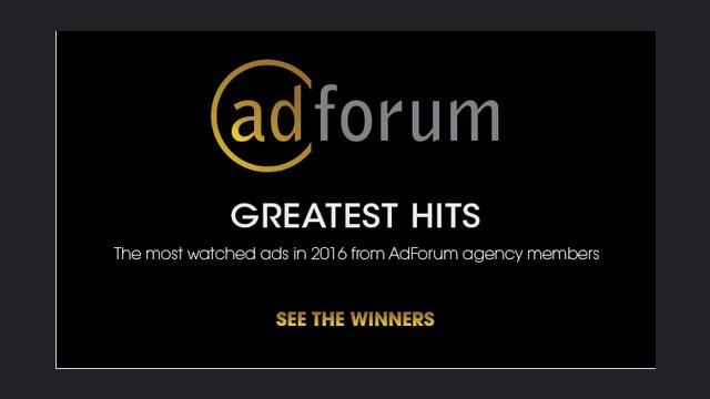 AdForum's Greatest Hits of 2016