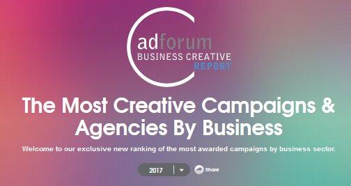 Publication de l' « AdForum Business Creative Report »